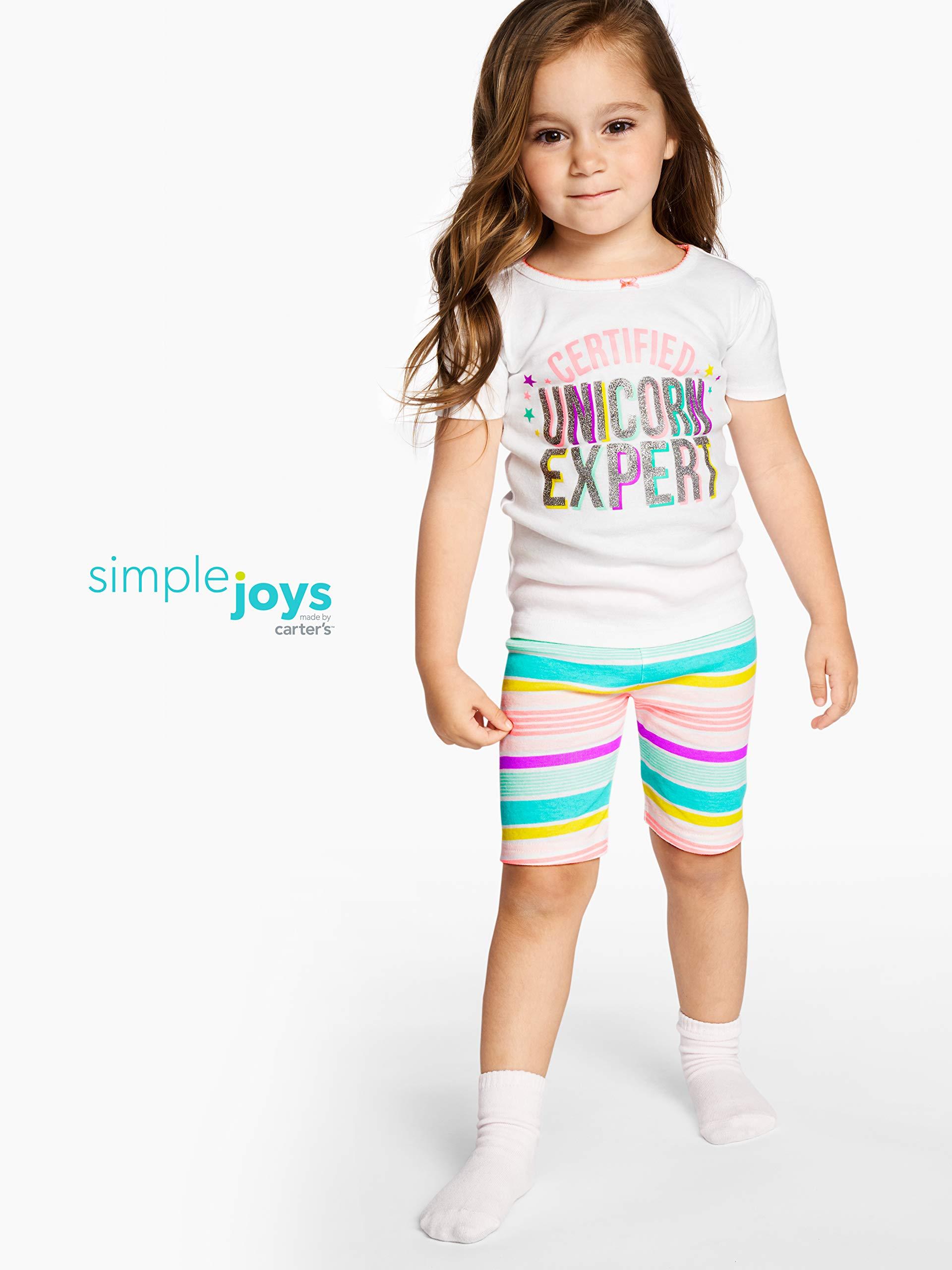 Simple Joys by Carter's - Pijamas enteros - Juego de pijama de algodón de ajuste cómodo de 6 piezas. - para bebé niña 2