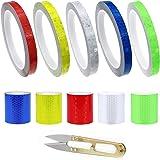 GZjiyu 10 rollen reflecterende tape zelfklevend, PVC waarschuwingssticker reflecterend voor auto's motorfiets fietsen straatm