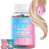 Ltanis Viteddy Hair Gummy Vitaminas Biotina y vitamina D masticables vegetarianas para el crecimiento del cabello, uñas y pie