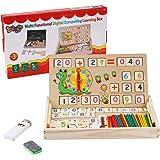 BBLIKE Juguetes de Madera Niños, Tablero Montessori Reloj Pintura Números Apilamiento Clasificación Matemática Aprendizaje de