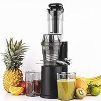 H.Koenig Extracteur de Jus de fruit et légumes vertical compact 0,8L Inox GSX16, Centrifugeuse Vitamin+ Sans BPA, Bec d…