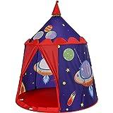 SONGMICS lektält, prinsens slottält för pojkbarn, lekstuga för inne och ute, bärbart pop-up indiskt tält tipi med väska, gåva