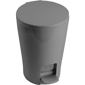 Tatay 4434906 Diabolo   Bathroom Waste Bin, Grey