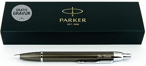 Geschenkfreude Parker IM Kugelschreiber mit Gravur hochwertig/bestandene Prüfung Geschenk/personalisierte Geschenke/blauschreibend