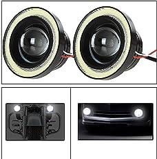 UTTU 2Pc 3.5Inch Car Fog Lamp Angel Eye DRL Led Light(CAR PROJECTOR)