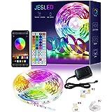 LED Strip, JESLED 6 m Bluetooth RGB LED-remsor, app och IR-fjärrkontroll, musiksynk LED ljusband SMD5050 RGB band ljus färgfö