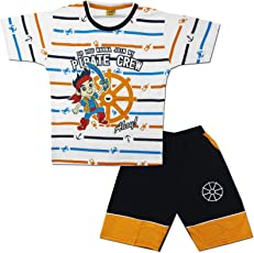 Kid's Care Summer Cotton Boy's T-Shirt and Shorts Set(8168)