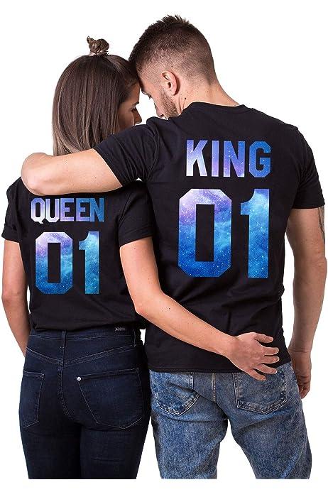 Daisy for U Conjunto de Camisa de Pareja King Queen, Partido ...