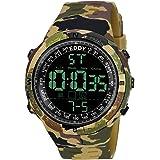 EDDY HAGER Analogue-Digital Men's Watch (Black Dial Multicolour Strap)