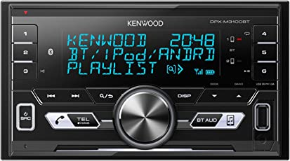 Kenwood DPX-M3100BT Digital Media Receiver with Double Din (Black)
