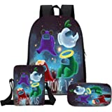 Gloostike Among us mochilas, mochilas de hombre lobo espacial, mochilas escolares de tres piezas, mochilas de juegos de dibuj