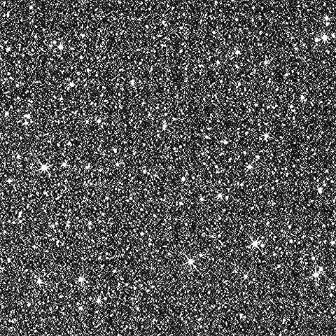 Noir avec effet Paillettes Muriva Papier peint texturé 701353