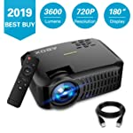 ABOX A2 Native 720P Portable Home Theater LCD HD Video Projector with 3600 Lumen,180 Inch Large Screen and Dual HiFi...