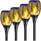 Shinmax Lumière Solaire de Torche,33LED Imperméable Lumière Solaire de Torche Auto On/Off (Licht Sensor)Danse Flamme Solaire