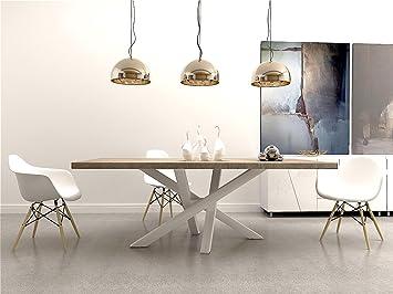 Holztisch modern  Stahlgestell Tischgestell Esstisch Modern Tischfuß Industriedesign ...