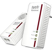 AVM Fritz Powerline 1260E/1220E WLAN Set (WLAN-Access Point, ideal für Media-Streaming oder NAS-Anbindungen, 1200 MBit/s, deutschsprachige Version) weiß