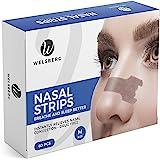 Welsberg 60x cerotti nasali per non russare cerotti per naso antirussamento per respirare meglio, taglia M