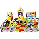 Vijaya Impex 160 pcs Blocks House Multi Color Building Blocks with Smooth Rounded Edges - Building Blocks for Kids - Blocks G