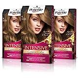 Schwarzkopf Palette Intensive Creme Color - Tono 6 cabello Rubio Oscuro (Pack de 3), Coloración Permanente de Cuidado con Ace
