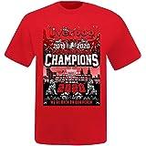 Unisex Liverpool 2020 Premier League Champions T-Shirt (100% Cotton & Sizes S to 4XL)