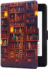 Huasiru Gemälde Hülle Schutzhülle für Alle Kindle Paperwhite (2012, 2013, 2015, 2016 & 2017 Versionen) Case Cover, Bibliothek