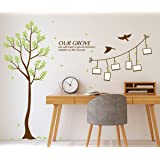 Amazon Brand - Solimo PVC Vinyl Wall Sticker for Living Room (Memories, Ideal Size on Wall:126 cm x 143 cm), Multicolour
