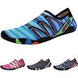 QIMAOO Barefoot Skin Water Shoes Socks, Men Women Quick Dry Water Sport Shoes, Unisex Aqua Shoes for Swim Surf Yoga Beach Run