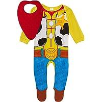 Disney Baby Boys Toy Story 4 Sheriff Woody Babygrow + Bandanna Bib Gift Set