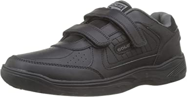 Mens Gola Belmont Wide Fit Coated Leather Trainers