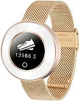 Sihan - Smartwatch da donna con Bluetooth, impermeabilità IP68, con contapassi, monitoraggio del sonno,...