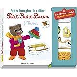 Mon imagier à coller Petit Ours Brun - L'hiver
