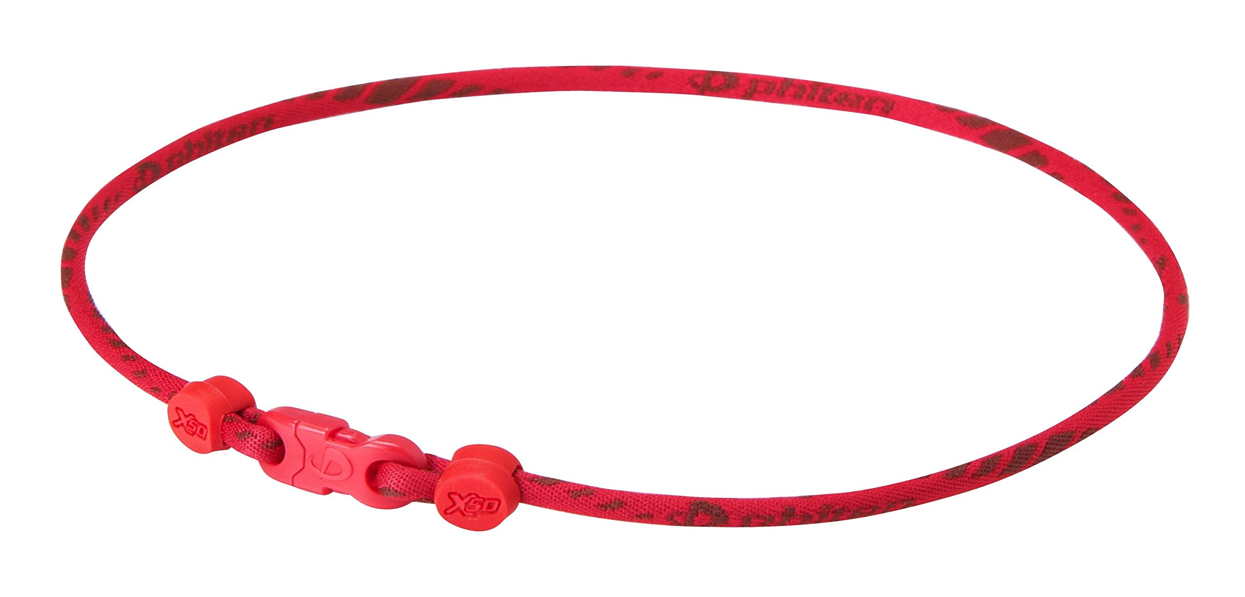Phiten Rakuwa Titanium Necklace X50 Slim Type Made in Japan [Japan Import] (19.7in(50cm), Red) by Ph