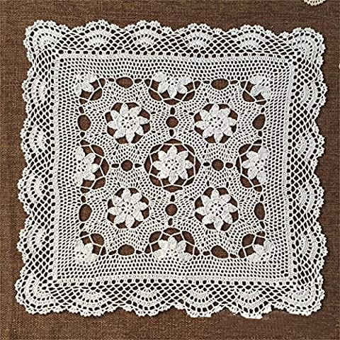 LILSN- Continental tablecloths cover coffee table towel refrigerator openwork handmade