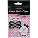 Perfection Racer Back Clips Bra Strap Converter To Hide Bra Straps - Pack Of 3 Black White and Clear