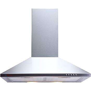 Seavy 60 cm 800 m3/hr Chimney (MIF SS 60, 2 Cassette Filters, Steel/Grey)