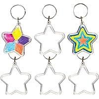 Baker Ross Kits de Porte-Clés Étoiles en Acrylique Que Les Enfants pourront Peindre, Décorer et Personnaliser (Lot de 6…