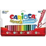Carioca 42763 - Bravo Confezione 24 Pennarelli, Punta Maxi, 6 mm