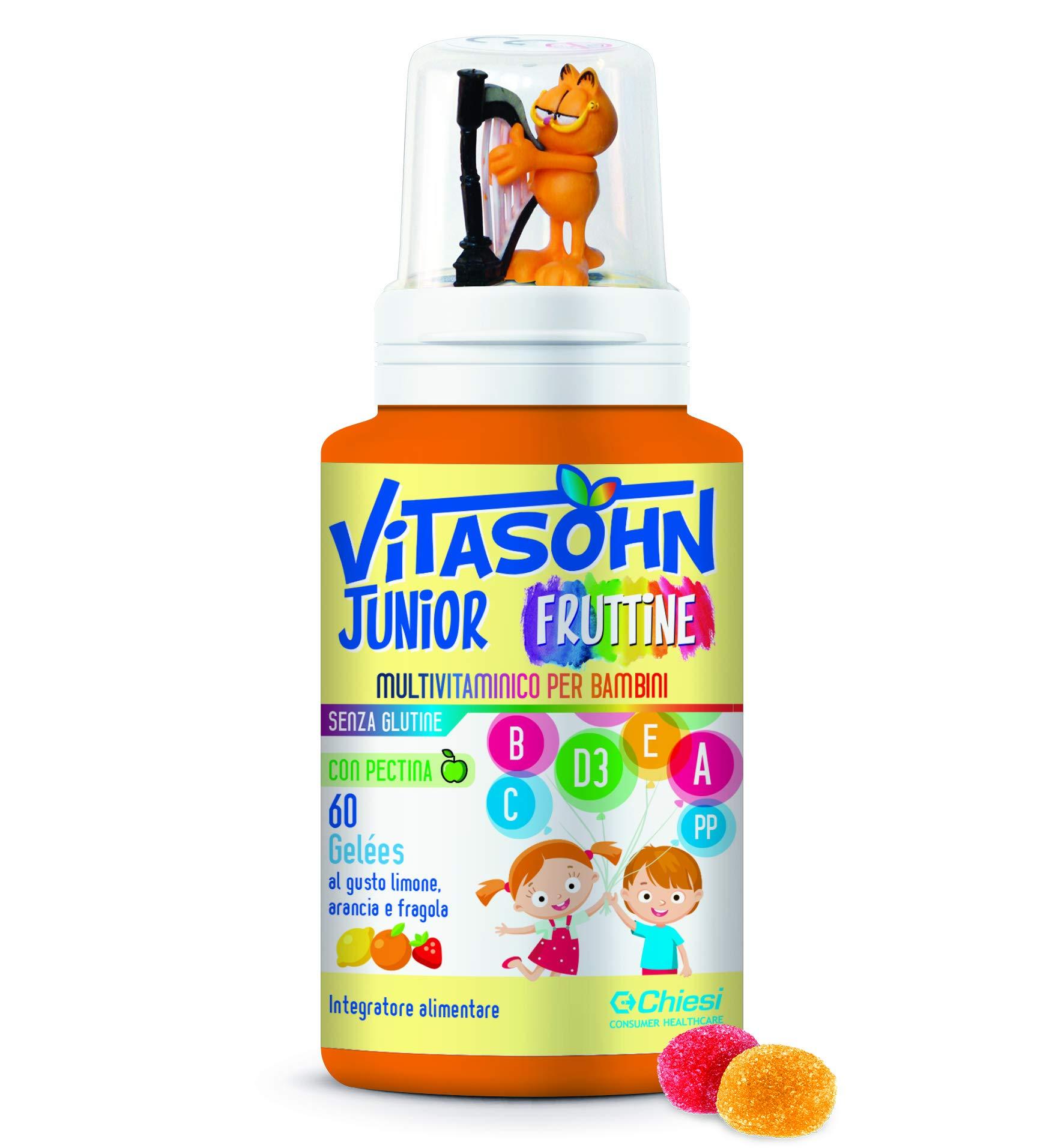 Vitasohn Junior Fruttine 60 Caramelle Gelée - Integratore alimentare multivitaminico per bambini con pectina al gusto di… 1 spesavip
