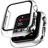 LϟK 2 Pack Funda Protector de Pantalla de Cristal Templado Incorporado para Apple Watch 40mm Series 6 5 4 SE - Estuche Protec