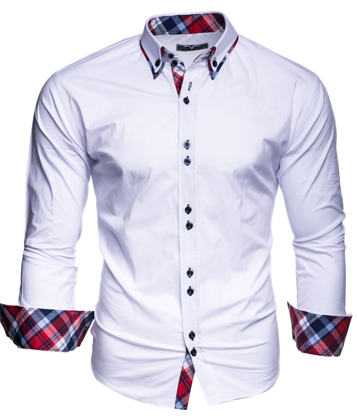 Kayhan Camisas Hombres Camisa Hombre Manga Larga Ropa Camisas de Vestir Slim fácil de Hierro Fit S M L XL XXL-6XL…