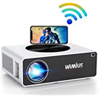 Vidéoprojecteur WiFi Full HD 1080P, 8000 Lumens WiMiUS Vidéoprojecteur WiFi Full HD 1080P Rétroprojecteur Supporte 4K…