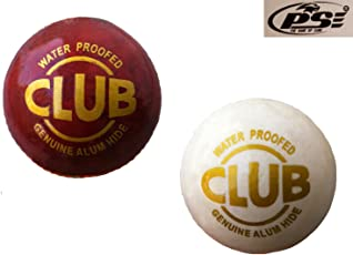 PSE Sports Leather COMBO(D) Cricket Ball (Red,White)