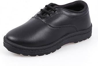 TWIN GS-Batchmate Boys Black Lacing School Shoe- BS-6001- Kids
