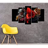Paintings Wall Décor, Insigne Art 5 Pieces, MDF Wood Art