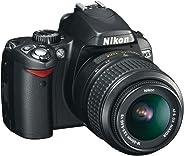 Nikon D60 Appareil photo numérique Reflex 10.2 Kit Objectif AF-S DX VR 18-55 mm Noir (Reconditionné)