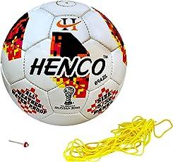 Henco PU BRAZIL Football, Size 5 (White)