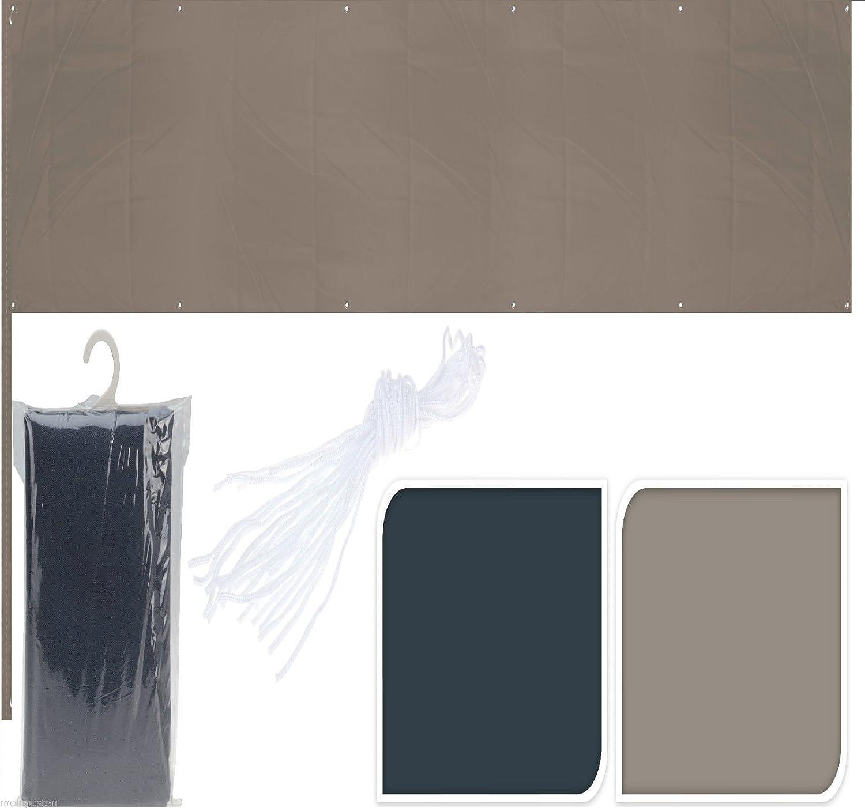 Amazon Balkonsichtschutz dunkelgrau taupe 445x76 cm uni