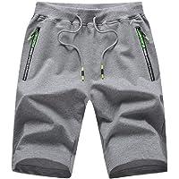 ZOXOZ Pantaloncini Uomo Sportivi Cotone Pantaloni Corti con Tasche Shorts Uomo