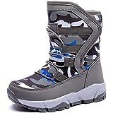 UBFEN Botas de Nieve Botas de Invierno para Niños Invierno Calentar Forrada de Esqui Impermeables Boots