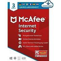 McAfee Internet Security 2021 Upgrade   3 Geräte  1 Jahr   Antivirus Software, Virenschutz-Programm, Passwort Manager…